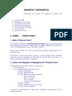 Preguntas y Respuestas Frecuentes Sobre Ffx