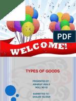 Eco Types of Goods
