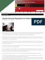 Urgente Comisión Reguladora de Tarifas de Luz
