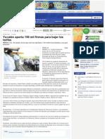 Yucatán aporta 150 mil firmas para bajar las tarifas