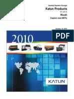 Katun Copier Catalog Ricoh 2010