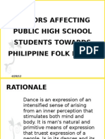 Factors Affecting Public High School Students Towards Philippine Power Point