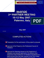 MeSFiDE Presentation in Palermo, Prefecture of Heraklion