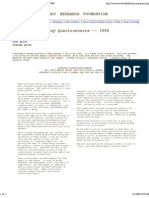 Arakawa Gins Reversible Destiny Questionnaire 1996