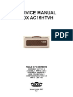 VOX AC15 HTVH Service Manual