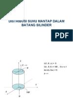 Distribusi Suhu Mantap Dalam Batang Silinder ( fisika matematika II )