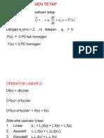 Linear Koefisien Tetap ( fisika matematika II )