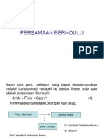 PERSAMAAN BERNOULLI ( fisika matematika II )