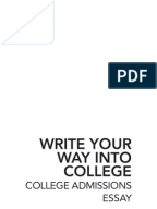 College essay ideas for