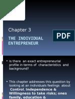 ENT3-The Individual Entrepreneur