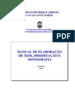 Normas de Elaboração de Tese, Dissertação e Monografia