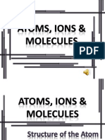 Atoms, Ions, Molecules
