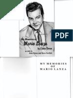 My Memories of Mario Lanza