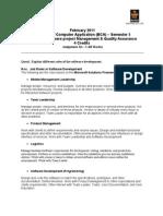 SMU BCA 5th sem Software Project Management & Quality Assurance