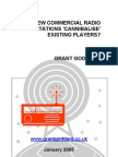 'Do New Local Commercial Radio Stations Cannibalise Existing Players?' by Grant Goddard
