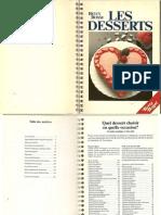 Betty Bossi - Les Desserts (Recettes de Cuisine)