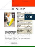 molino PET 20 HP ,USD  Centroamérica, Julio 2011