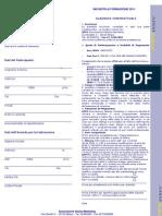 Scheda Iscrizione Incontri Gruppo Piemonte 2011
