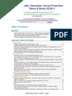 Health, Education, Social Protection News & Notes 22/2011