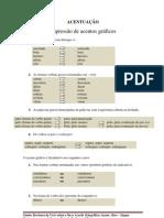 Exercícos ACENTUAÇÃO formação novo acordo ortográfico