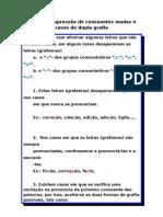Supressão de consoantes mudas e casos de dupla grafia