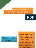 CONSEJOS DISEÑO HOJA DE VIDA
