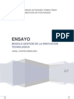 Ensayo Gestion Innovacion Tecnologica