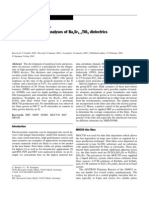 XRF and SIMS/SNMS analysis of Bax Sr1-x TiO3 dielectrics
