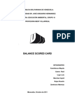 Control de Gestión - Balance Scored Card