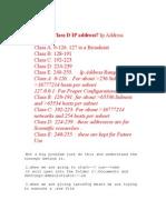 What is a Class D IP address