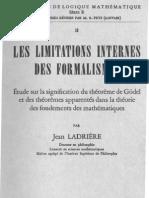 Les Limitations Internes Des Formalismes _Ladriere - 1957