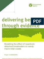 Modelling the Effect of Nearshore Detached Breakwaters