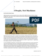Farms Need People, Not Machines