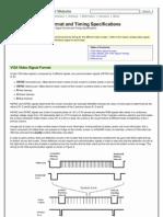 VGA Video Signal Format
