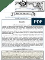 LUZ DE CRISTO / Domingo, 22 de Outubro 2011