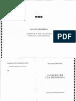 Derrida - La Estructura El Signo y El Juego en El Discurso de Las Ciencias Humanas