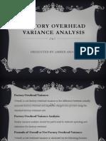 Factory Overhead VARIANCE Analysis