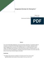 Knowledge Management Systems for Enterprises