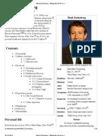 Mark Zuckerberg - Wikipedia, The Free Encyclopedia