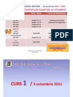 CURS 1 - Genetica 3 Oct. 2011 [Compatibility Mode]