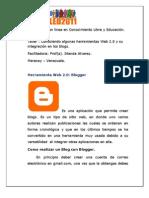 II Congreso en línea en Conocimiento Libre y Educación. Blogger