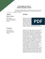 Zoning Board Agenda 20070816