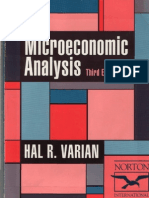 Varian - Micro Economic Analysis