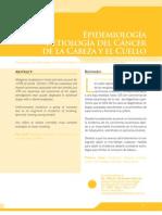 Epidemiologia y Etiologia Del Cancer de Cabeza y Cuello