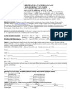 2008 Summer Day Camp Registration Form
