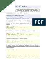Álgebra y Cálculo básico