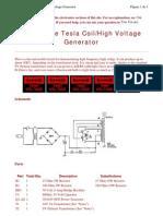 Tesla Coil High Voltage Generator