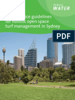 Sydney Water Best Practice Guidelines for Turf Open Space