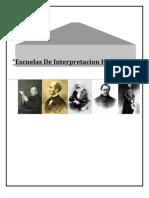 Escuelas De Interpretacion Histórica