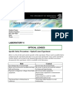 1220PHYS Lenses Students Lab Manual 2010(b)